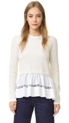 N 21 Peplum Sweater Cream