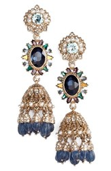 Marchesa Women's Regal Affair Drama Drop Earrings