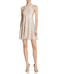 Aqua Metallic Lace Halter Dress Silver Metallic