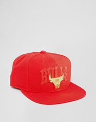 Mitchell And Ness Snapback Cap Lux Chicago Bulls Red