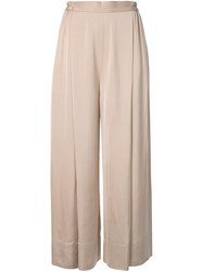 Theatre Products Pleated Palazzo Trousers Brown
