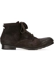 Rocco P. Lace Up Boots Brown
