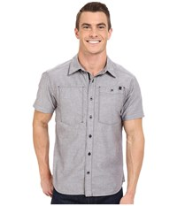 Black Diamond Short Sleeve Chambray Modernist Shirt Slate Men's Short Sleeve Button Up Metallic
