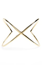 Women's Elizabeth And James 'Windrose' Wide Crossover Cuff Gold