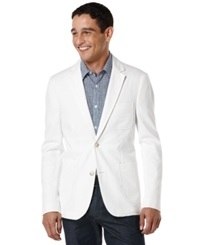 Perry Ellis Seersucker Slim Fit Blazer Bright White
