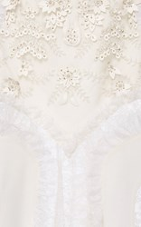 Rodarte Laser Cut Lace Skirt White