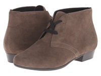 Munro American Sloane Greige Suede Women's Lace Up Boots Taupe