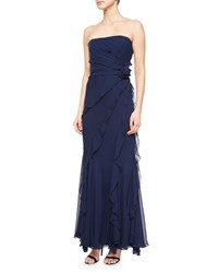 Melinda Eng Strapless Tiered Ruffled Gown Women's