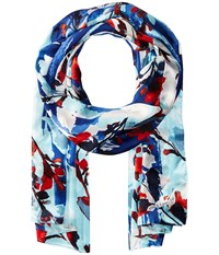 Vince Camuto Foliage And Blooms Evening Blue Scarves