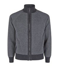 Corneliani Cashmere Twill Lounge Top Male Grey