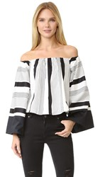 Kendall Kylie Jet Set To Tokyo Top White Black