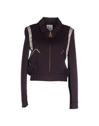 Uniqueness Coats And Jackets Jackets Women Deep Purple