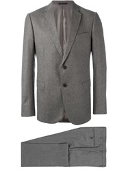 Armani Collezioni Fitted Business Suit Brown