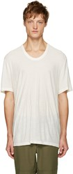 Alexander Wang Ivory Pilled T Shirt