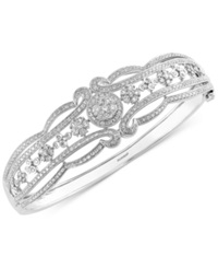 Effy Collection Effy Diamond Vintage Bangle In 14K White Gold 2 Ct. T.W.