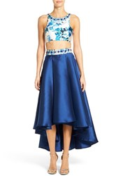 Women's Mac Duggal Print Two Piece Midi Dress