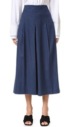 Tibi Pleated Culottes Boy Denim