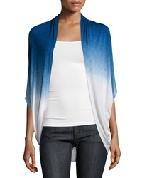 Design History Dip Dye 3 4 Sleeve Cardigan Graphic Blue