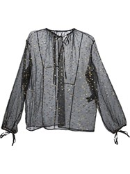 Haider Ackermann Sheer Tunic With Gold Flecks Black