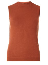 Dorothy Perkins Button Back Shell Top Orange