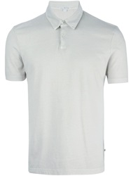 James Perse Classic Polo Shirt Grey