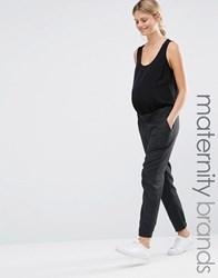 Mama Licious Mamalicious Tailored Woven Trousers Dark Grey Black