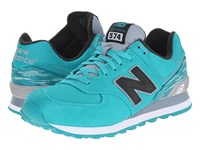 New Balance Ml574 Teal White Men's Shoes Green