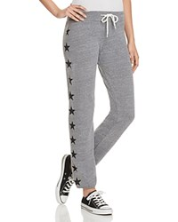 Monrow Star Vintage Sweatpants Dark Heather