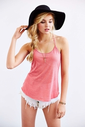 Urban Outfitters Uo Donna Racerback Tank Top Maroon