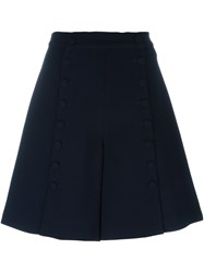 See By Chloe A Line Buttoned Shorts Blue