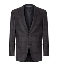 Pal Zileri Subtle Check Jacket Male Dark Grey