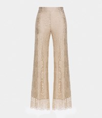 Christopher Kane Lace Palazzo Pants Nude And Neutrals