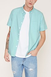 Forever 21 Oxford Pocket Shirt
