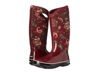 Bogs Classic Paisley Floral Tall Burgundy Multi Women's Waterproof Boots