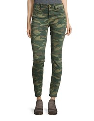 True Religion Camo Skinny Jeans Distressed Camo