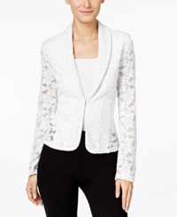 Inc International Concepts Lace Blazer Only At Macy's Bright White