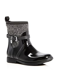 Michael Michael Kors Charm Stretch Rain Booties Black White