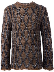 Ports 1961 'Fully Fashioned' Sweater Brown