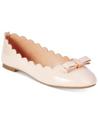 Wanted Olivia Scalloped Ballet Flats Women's Shoes Blush