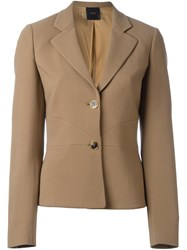 Agnona Two Button Blazer Brown