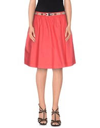 Armani Jeans Skirts Knee Length Skirts Women Coral