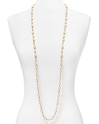 Carolee Faux Pearl And Crystal Long Necklace 48 White