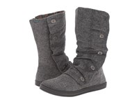 Blowfish Rammish Grey Soft Herringbone Flannel Women's Boots Gray