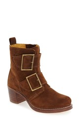 Frye Women's 'Sabrina' Double Buckle Boot Wood Oiled Suede