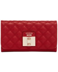 Guess Rebel Roma Large Flap Organizer Clutch Ruby