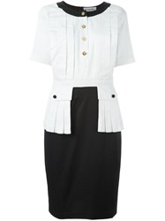 Chanel Vintage Monochrome Dress White