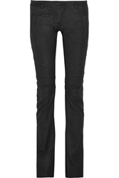 Balmain Coated Low Rise Flared Jeans