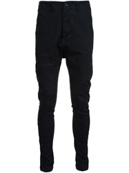 Julius Drop Crotch Trousers Black