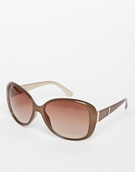 Warehouse Metal Bar Basic Sunglasses Pink