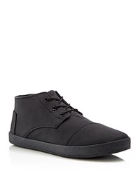 Toms Paseo Faux Leather Chukka Boots Black
